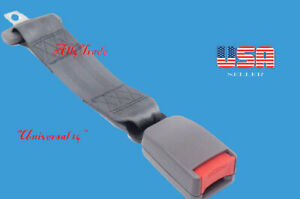 """Extension 14"""" Seat Belt Gray Extender Belt Extension With Buckle (Clip width 7/8"""