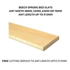 Beech Replacement Curved Wooden Bent Sprung Bed Slats Any Size Up to 915mm Long