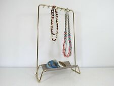 Metal Display Rack, Necklace Watch Jewelry Stand, Mid Century Modern Style Gold