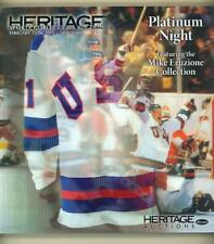 HERITAGE AUCTION CATALOG SPORTS FEBRUARY 2013 HOCKEY MIKE ERUZIONE COLLECTION