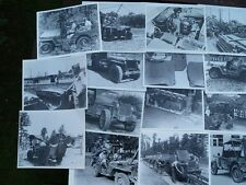 Guerra JEEP fotografie libro WILLYS MB Ford GPW US ARMY JEEP RARE FOTO Jeeps