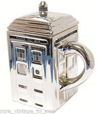 NEW DOCTOR WHO 50th Anniversary Special 3D CHROME TARDIS CERAMIC MUG Coffee Tea