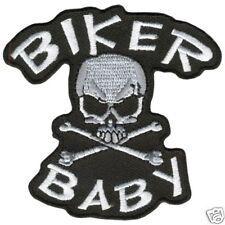 Biker Baby SKull & Bones Patch  3 inch
