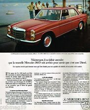Publicité Advertising 1973 Mercedes 240 D