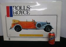 Pocher 1934 Rolls Royce Torpedo Cabriolet Phantom II K75 Kit 1/8 Italy. STARTED