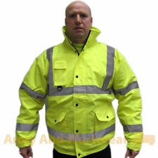 Superior Hi-Viz Visibility Safety Bomber Jacket Work Mens Coat Construction Site