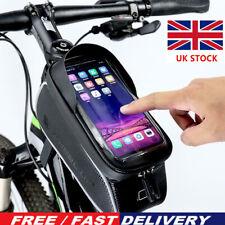UK Waterproof Mountain Bike Frame Front Bag Pannier Bicycle Mobile Phone Hold