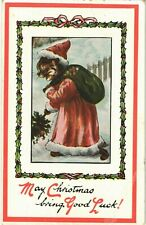 More details for louis wain cats. may christmas bring good luck # 5376 by ettlinger. father xmas.