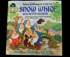 1977 Walt Disney SNOW WHITE Seven Dwarfs 33 1/3  Record #310 Read Along 24p Book