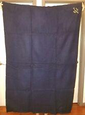 """WOOLRICH navy blue wool blanket 60"""" x 40"""" NCSL PHILADELPHIA 1997 Throw Afghan"""