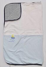 "Gymboree ""Cote D'Azure"" Vintage Sailboat Nautical Stripe 2 Ply Receiving Blanket"