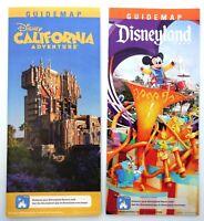 Disneyland and California Adventure New Year February 2019 Guide Map set