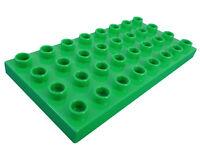 Lego Duplo 2x hellgrüne Bauplatte Platte 4x8 bright green 32 Noppen Neu