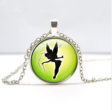 Tinkerbell Pendant necklace Glass necklace Children's Christmas gift   DD   420