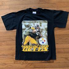 ebf5d390d Vintage Jerome Bettis Pittsburgh Steelers T Shirt 2001 Medium NFL Football