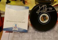 KIRBY DACH SIGNED CHICAGO BLACKHAWKS PUCK BECKETT BAS COA 3RD PICK 19 DRAFT AUTO