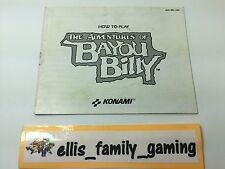 The Adventures Of Bayou Billy MANUAL ONLY Nintendo Nes - Ships Fast!