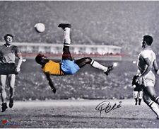 Pele Brazil Autographed Bicycle Kick 8x10 Signed Photo Reprint