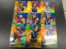2017 AFL FOOTY STARS RAINBOW HOLOFOIL TEAM SET OF 9 CARDS PORT ADELAIDE