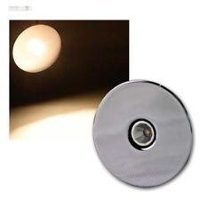 Komplettsets LED Recessed Lights 3W Chrome Round, Furniture Luminaire Spotlight