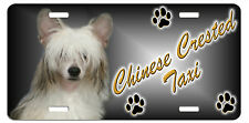 Chinese Crested Taxi Line License Plate ( Special Low Clearance Price )