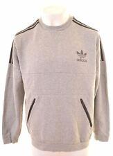 ADIDAS Mens Sweatshirt Jumper XL Grey Cotton  AK09