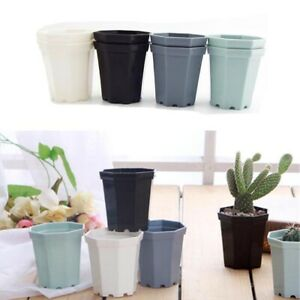 4pcs/Lot Small Plastic Flower Pot Succulent Plant Flowerpot Home Office Decor