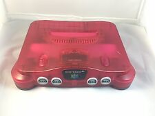 NINTENDO 64 WATERMELON RED CONSOLE FUNTASTIC CLEAR GAME SYSTEM N64 CLEAN TESTED