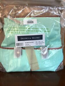 Dooney and Bourke Camden Nylon Hobo Bag with Cosmetic Pouch Light Aqua NIB