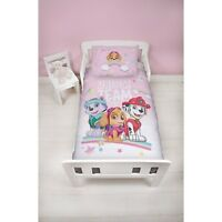Paw Patrol Pastels Panel Junior Cot Bed Duvet Quilt Cover Set Brand New Gift