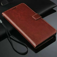 Brown Genuine Real Leather Flip Wallet Case Cover For Samsung Galaxy Note 3