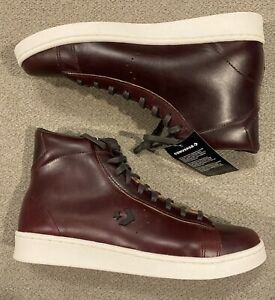 Converse Pro Leather 76 Hi Top Horween Brown Ganache Sneakers 168750C Mens Sz 10