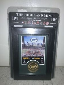 The Highland Mint NFL Super Bowl XLV Champions Green Bay Packers Bronze Coin!
