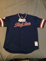 """Genuine Boston Red Sox """"Stiches"""" Sewn Button Up Jersey Adult XXL New W/Tags"""