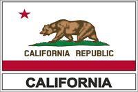 Sticker adesivi adesivo bandiera usa california CA