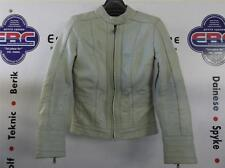 BKS Ladies Windsor Suzi Perry Cream Leather Motorcycle Jacket  UK 10