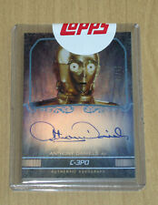 2015 Topps Star Wars Masterwork oncard uncirculated autograph Anthony Daniels 25