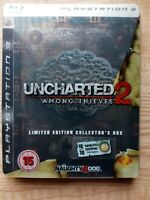 Uncharted 2 Among Thieves Steelbook Collectors Box, Sony PS3, PlayStation 3