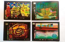 4 carte postale Hundertwasser neuve