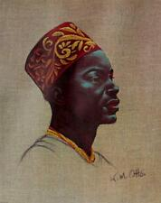 Wolfgang Mueller Otto MAN FROM UGANDA African Portrait LITHOGRAPH Vintage #365