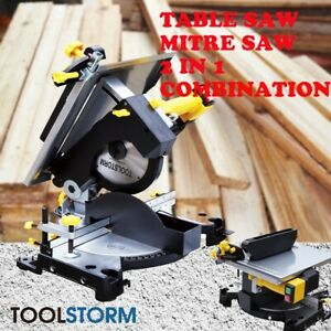 PRO Mitre Saw Table Saw Combo Electric Bench Drop Saw Extension 210mm 2 in 1