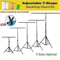 Meking Adjustable T-Shape Backdrop Stand Kit Background Support System W/ Clamp
