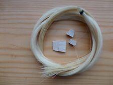 Violon Nœud Re-Hair Kit, 1 Naturel Blanc Écheveau Plus Set 3 Pointe / Frog Cales