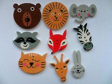 Venta 24 piezas de madera con Estampado Animal Lindo grandes botones Scrapbooking // Coser 30 mm