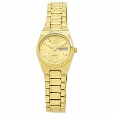 Seiko 5 Ladies Automatic Gold-Tone Stainless Steel Watch SYM600