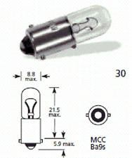 10 x Lucas llb233 BA9S T4W 12V 4W MCC AUTO LAMPADINA LUCE LATERALE