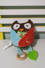 BABY TOY 2010 SKIP HOP OWL RATTLE JINGLES 20CM TALL! TEXTURE LEARNING TOY!