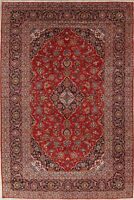 One-of-a-Kind Wool Hand-Knotted Floral Oriental Rug Traditional 9x14