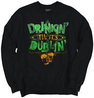 St Patricks Day Funny Cool Gift Cute Irish Beer Patty Drink Crewneck Sweatshirt