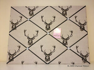 Stags Heads Pin/memo/noticeboard Gift bedroom Christmas Kitchen Choice Size